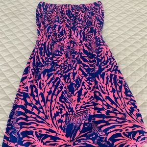 Lilly Pulitzer strapless pima cotton dress S